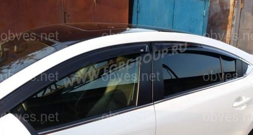 Дефлекторы окон EGR Mazda 6 III Sd 2013-