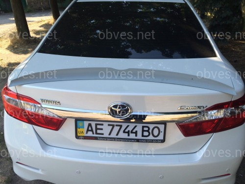 Спойлер лип багажника Toyota Camry 50/55 2011-2017 ABS пластик под покраску