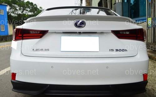Спойлер лип на багажник Lexus IS 2013- ABS пластик под покраску