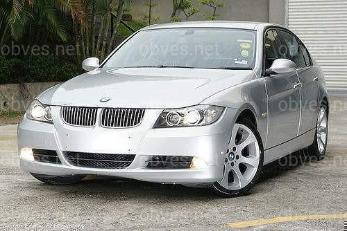 Хром накладка на решетку BMW 3 series E90 2005-2011