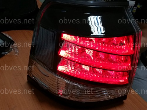 Задние рестайлинговые фонари Lexus LX 570 2013- прозрачные белые (комплект 4шт.)