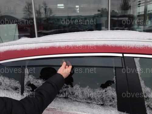 Дефлекторы окон с хром молдингом из нержавеющей стали Kia Sportage 2015-