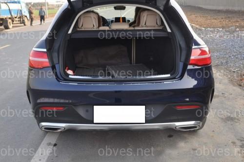 Спойлер лип на багажник + защитная накладка бампера Mercedes-Benz GLE COUPE C292 2015- комплект 2 шт.
