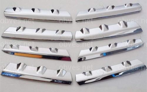 Хром накладки на решетку радиатора Nissan Qashqai 2007-2009 (хромированный пластик) 8 частей