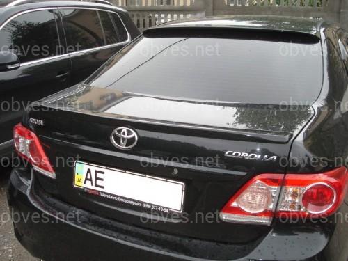 Спойлер лип багажника Toyota Corolla 2007-2012 ABS пластик под покраску