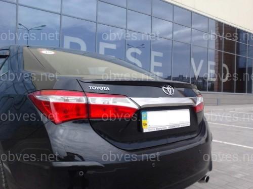 Спойлер лип багажника Toyota Corolla 2013-2018 ABS пластик под покраску (полный)