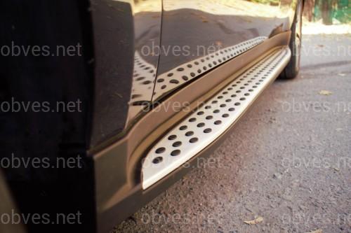 Пороги боковые Mercedes ML 164 2005-2011 ДИЗАЙН И КАЧЕСТВО ОРИГИНАЛА
