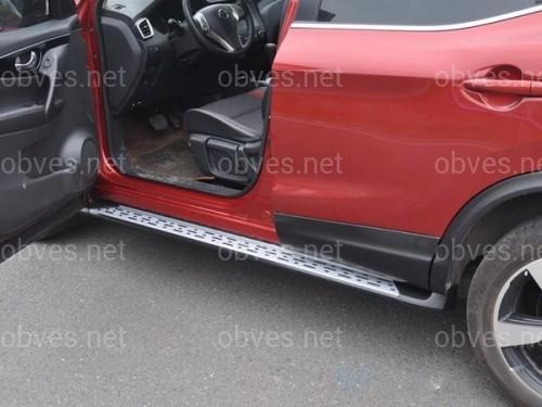 Пороги боковые Nissan Qashqai 2014-