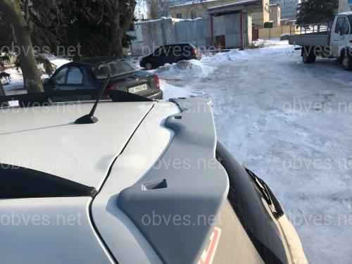 Спойлер козырек Subaru Forester 2013-2015 ABS пластик под покраску
