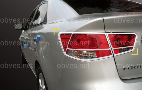 Хром накладки на задние фонари SAFE KOREA Kia Cerato 2009-2014