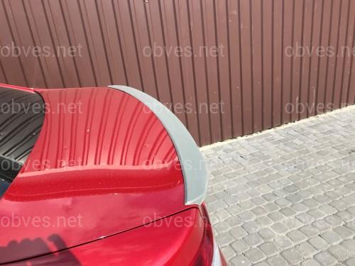 Спойлер лип багажника Toyota Camry 50 USA 2012-2014 ABS пластик под покраску