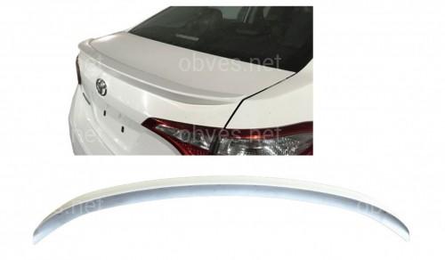 Спойлер лип багажника Toyota Corolla 2013-2018 USA ABS пластик под покраску (полный)