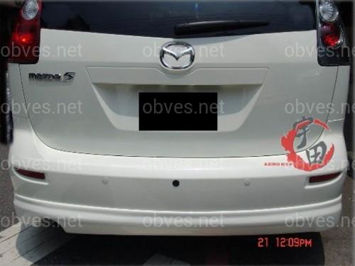 Юбка/ накладка заднего бампера Mazda 5 ABS пластик под покраску