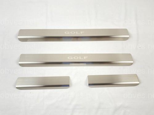Накладки на пороги Volkswagen Golf VII 2012-
