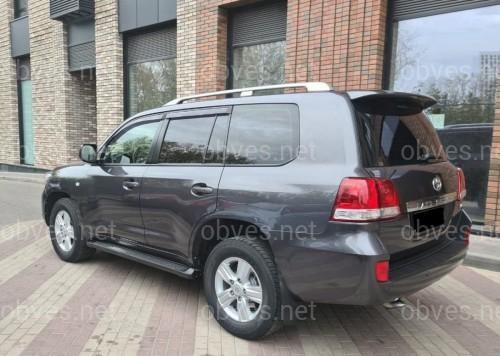 Рейлинги на крышу Toyota Land Cruiser 200 2007-2020 качество оригинала (алюминий 2шт.) цвет серебро