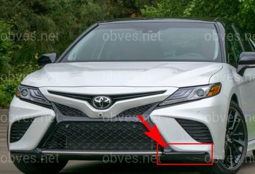 Накладка бампера нижняя левая Toyota Camry SE / XSE 70 2018+