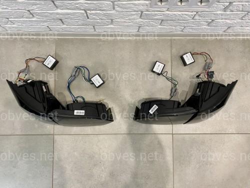 Задние LED фонари стопы Volkswagen Jetta 6 2011-2014 в стиле Audi Black