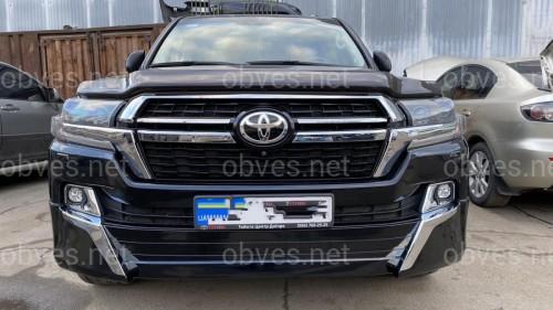 Комплект обвеса Toyota Land Cruiser 200 стиль 2021 черный цвет