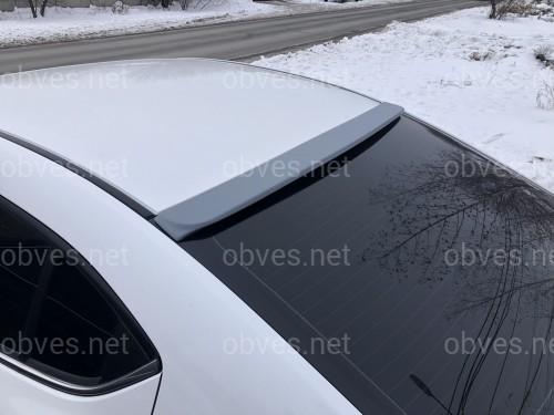 Козырек на стекло Mazda 3 sedan 2013-2021 ABS пластик под покраску