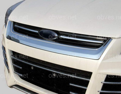 Хром накладка под решетку радиатора улыбка  Ford Kuga 2013+