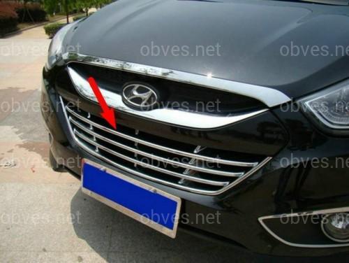 Хромированная решетка бампера Hyundai IX35 2010-2012