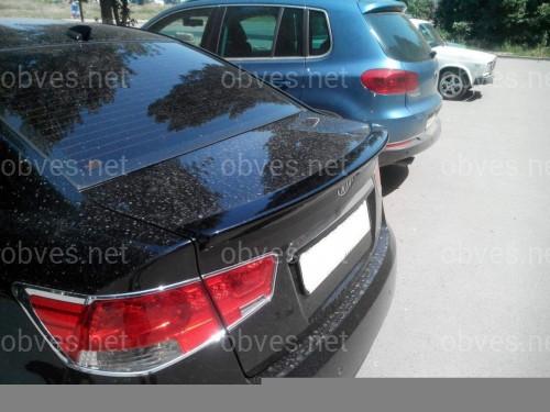 Спойлер лип на багажник Kia Cerato 2009-2014 ABS пластик