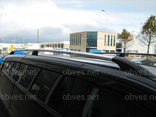Рейлинги на крышу с пластиковыми креплениями Citroen Jumpy / Fiat  Scudo / Peugeot Expert КОРОТКАЯ БАЗА 2007-2015 цвет черный