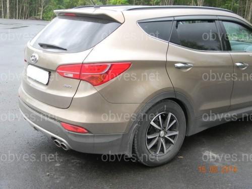 Дефлекторы окон Clover Hyundai Santa Fe 4 шт 2012-