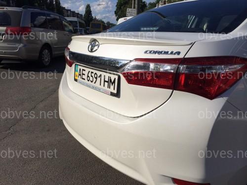 Спойлер лип багажника Toyota Corolla 2013-2018 ABS пластик под покраску