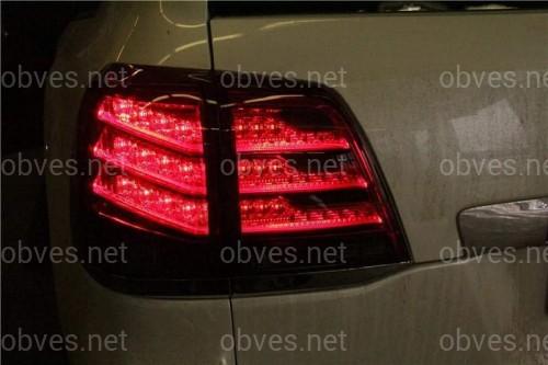 Задние фонари Toyota Land Cruiser 200 2007-2015 в стиле Lexus LX 2013-  светодиодные красно-дымчатые