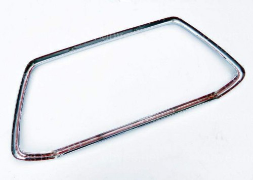 Хромированная окантовка решетки Mitsubishi ASX рестайлинг  из 2 х частей 2013-2017