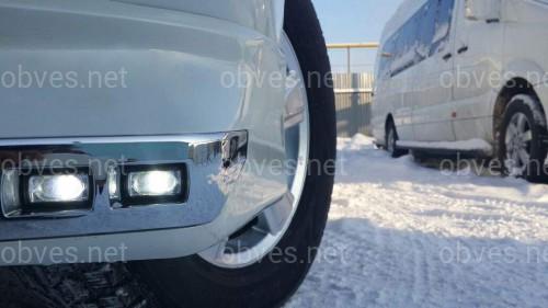 Юбка переднего бампера Urban Sport с диодами Land Cruiser 200 рестайлинг  2012+